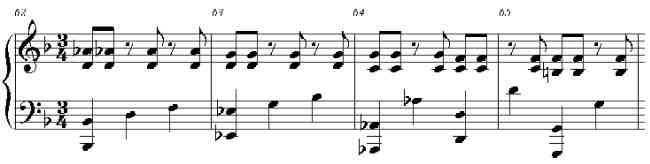 Mozart Piano Sonata, K332, hemiola