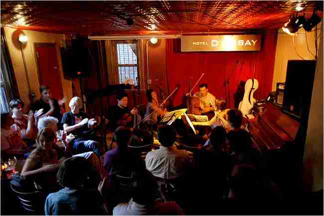 Parker Quartet at Barbes Bar, Brooklyn (NYT Photo, Michael Nagle)