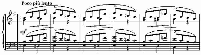 Schumann, Arabesque, Op. 18, Minore I