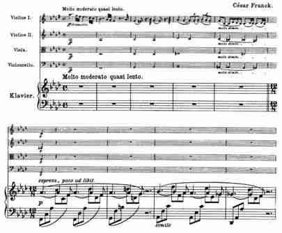 Franck Piano Quintet, Molto Moderato, Piano part