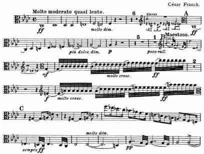 Franck Piano Quintet, Molto Moderato, Viola part