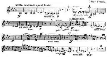 Franck Piano Quintet, Molto Moderato, Violin 2 part