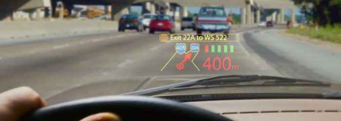Microvision Windshield heads-up augmented reality monitor
