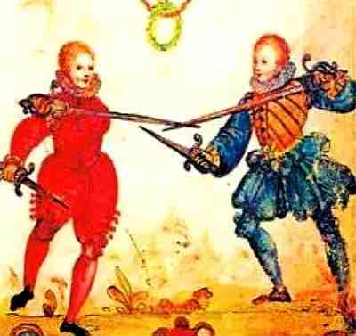 Fencing underhanded grip
