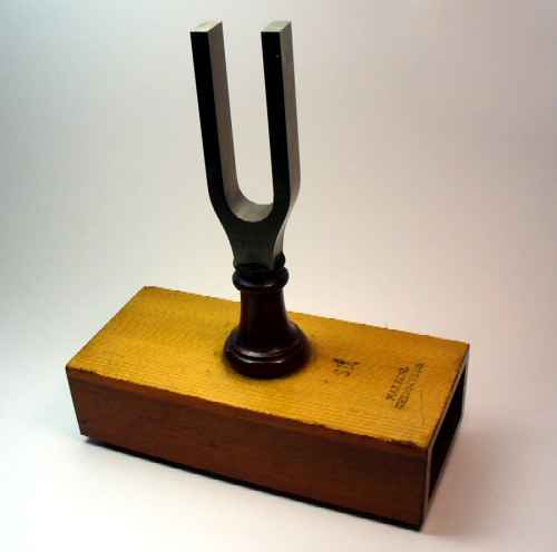 Kohl, fork on resonator box, 1880