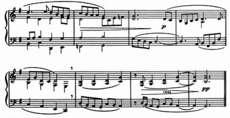 Dello Joio, Piano Sonata No. 3, 1948, mm. 8 - 15