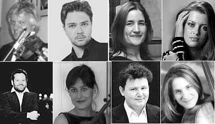 Octet: Winfried Rademacher, Alexander Sitkovetsky, Laura Samuel, Anna-Liisa Bezrodny, Krzysztof Chorzelski, Barbara Doll, Oleg Kogan, Gemma Rosefield