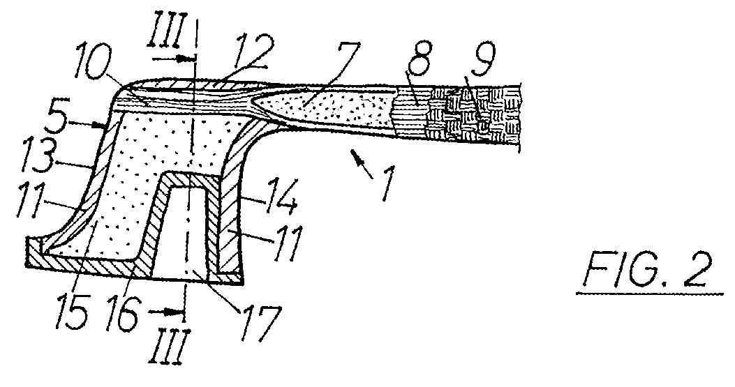 Wetzlinger-Müsing patent, carbon-fiber bow tip (hollow)
