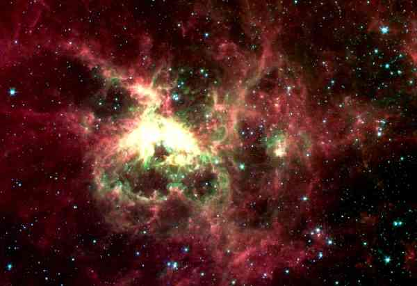 Tarantula Nebula, blooming; photo © NASA