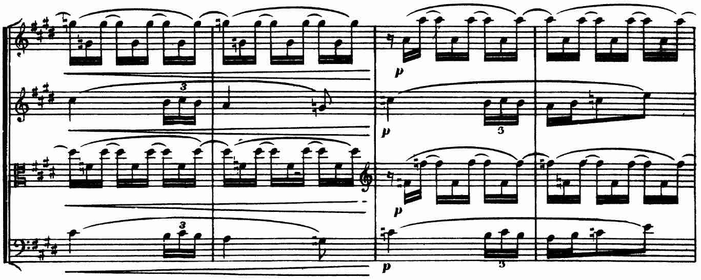 Debussy, Op. 10, III, 'Andantino', mm. 64-67