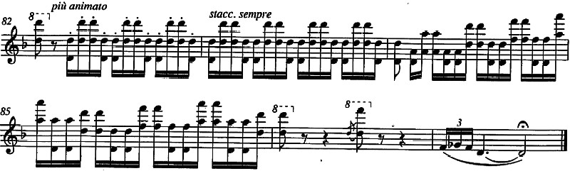 Improvviso in re minore, mm. 82-87