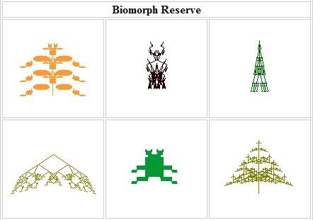 BlindWatchmaker biomorph generator