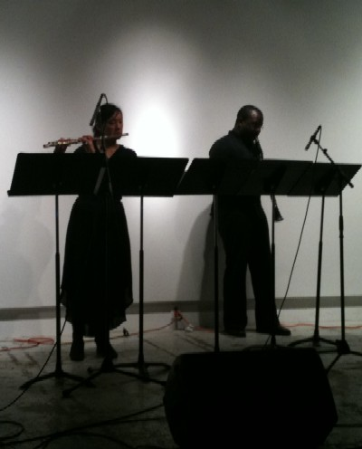 Burtner's 'A'aa', Grace Lai, flute, and Michael Abrams, clarinet