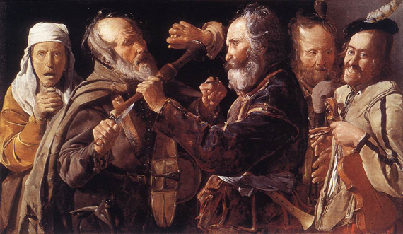 George de la Tour: &#8216;Quarreling Musicians&#8217; (1625-1630)