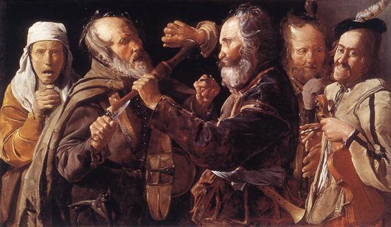 George de la Tour: 'Quarreling Musicians' (1625-1630)