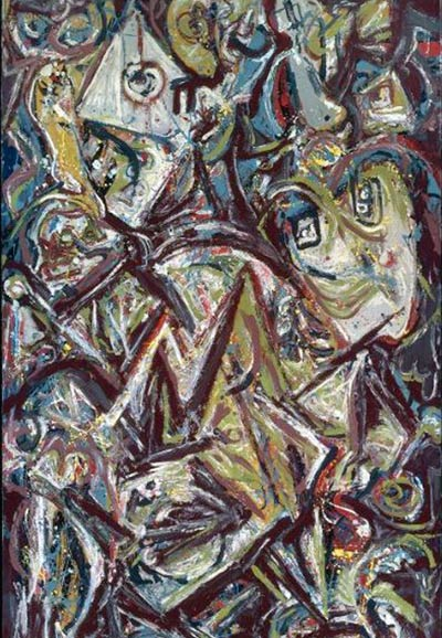 Jackson Pollock, &#8216;Troubled Queen&#8217;, 1945
